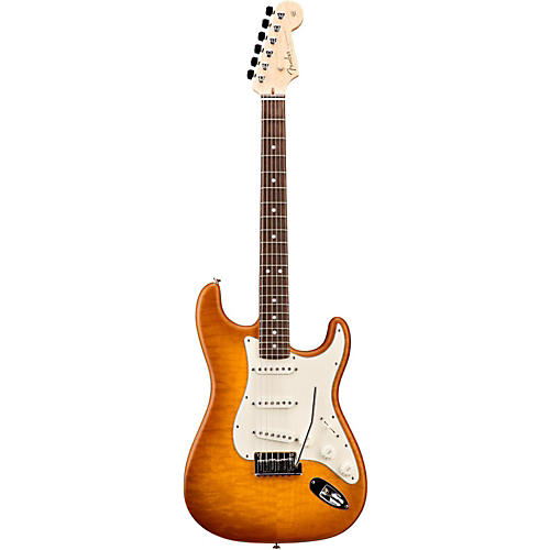 Fender Custom Shop Custom Deluxe Stratocaster Electric Guitar with Rosewood Fingerboard Honey Burst Rosewood
