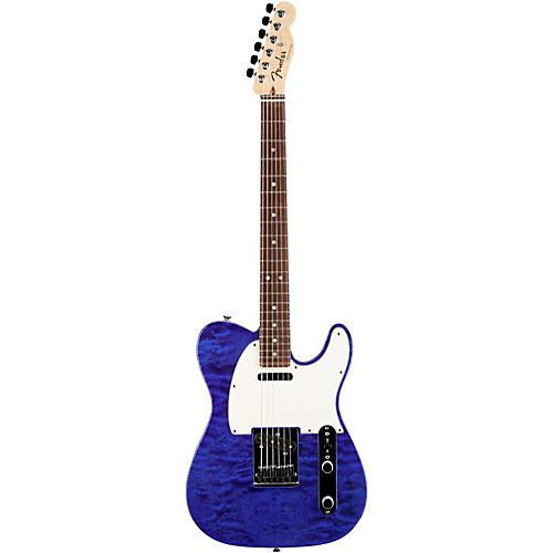 Fender Custom Shop Custom Deluxe Telecaster Electric Guitar with Rosewood Fingerboard Transparent Cobalt Blue Rosewood