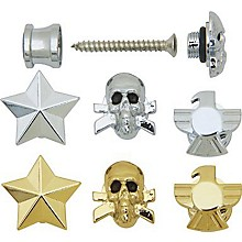 Grover-Trophy Custom Designed Strap Buttons Chrome Star