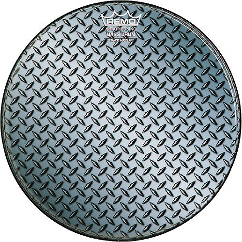 Remo Custom Diamond Plate Graphic Bass Drum Head  22 in.