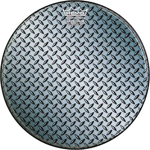 Remo Custom Diamond Plate Graphic Bass Drum Head-thumbnail