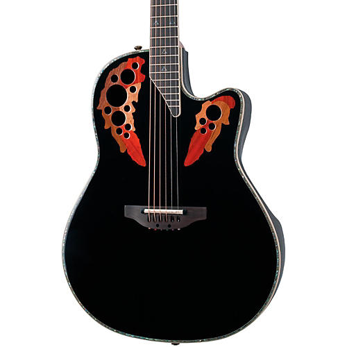 Ovation Custom Elite C2078 AX Deep Contour Acoustic-Electric Guitar Black