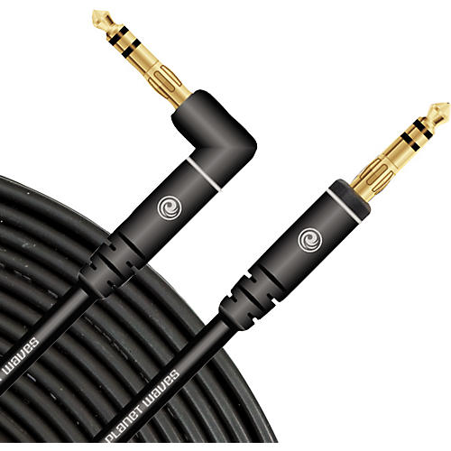 D'Addario Planet Waves Custom Gold Stereo Right Angel Instrument Cable