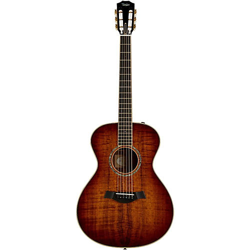 Taylor Custom Koa Grand Concert Left-Handed Acoustic-Electric Guitar-thumbnail