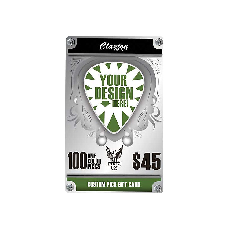 Clayton Custom Pick Gift Card 100 Full Color Picks