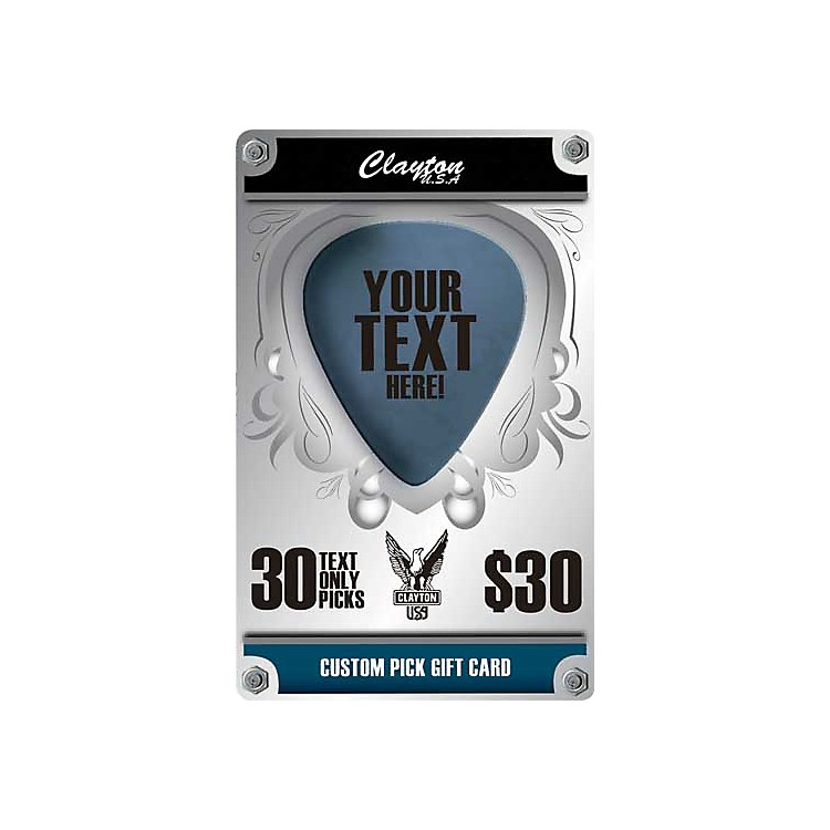 Clayton Custom Pick Gift Card 30 Text Only Picks