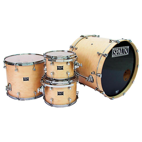 Spaun Custom Series 4-Piece Maple Shell Pack Blonde Satin Lacquer