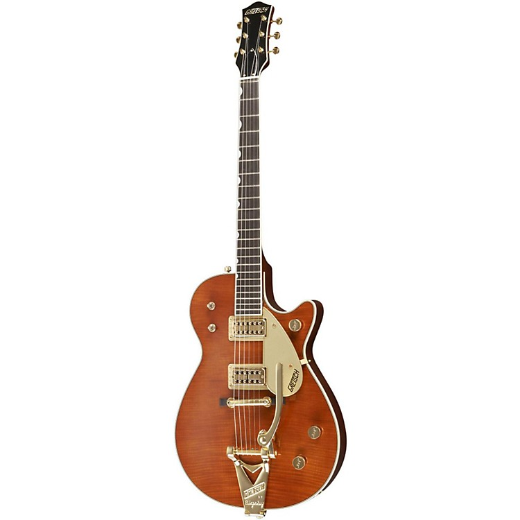 Gretsch GuitarsCustom Shop Duo Jet Flame Maple Top Electric GuitarWalnut Stain