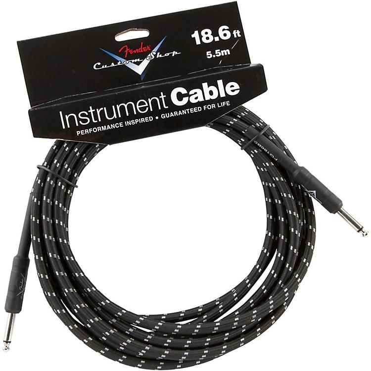 FenderCustom Shop Performance Series Instrument CableBlack Tweed25 Foot
