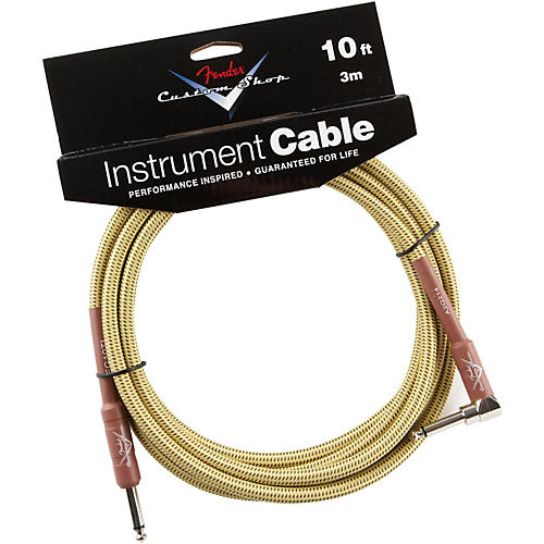 Fender Custom Shop Performance Series Right Angle Instrument Cable Tweed 10 ft.