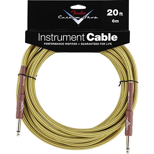 Fender Custom Shop Tweed Cable (Straight-Straight Angle)-thumbnail