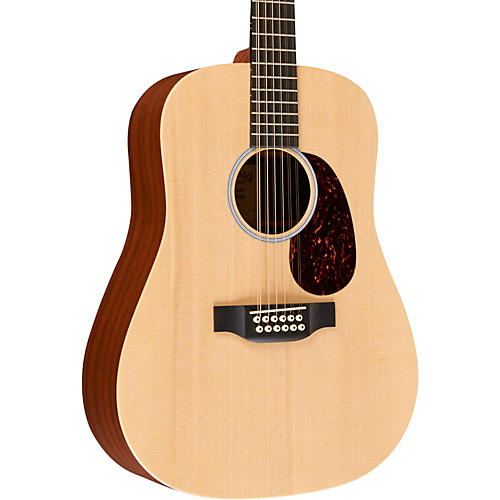 Martin Custom X Series X1-D12E Dreadnought 12-String Acoustic-Electric Natural Solid Sitka Spruce Top