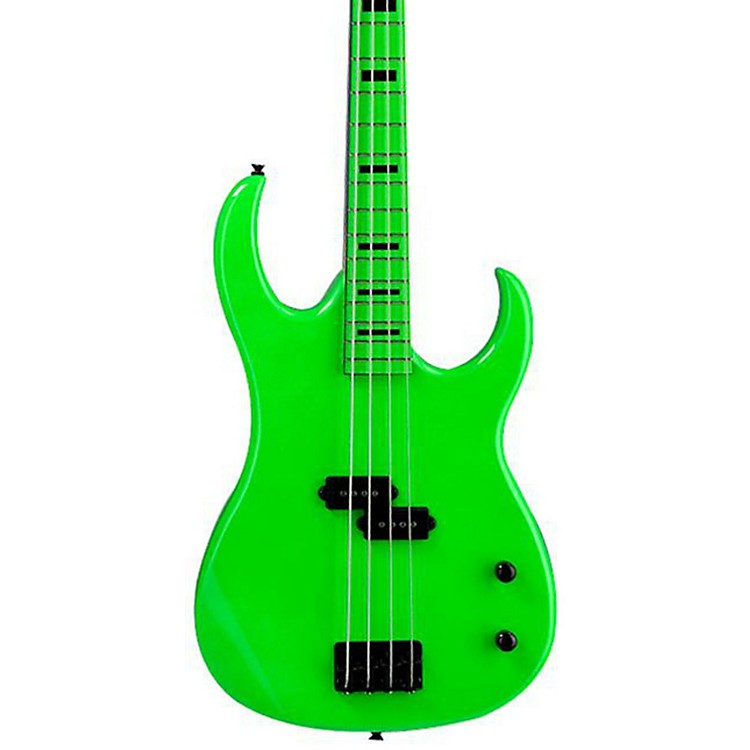 Dean Custom Zone 4-String Bass Guitar Florescent Pink