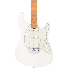 Ernie Ball Music Man Cutlass HSS Maple Fretboard Electric Guitar Ivory White Mint Green Pickguard