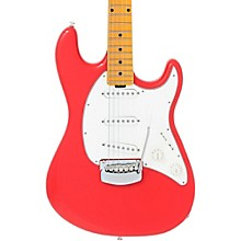 Ernie Ball Music Man Cutlass Trem Maple Fingerboard Electric Guitar Coral Red