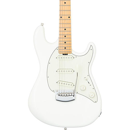 Ernie Ball Music Man Cutlass Trem Maple Fingerboard Electric Guitar Ivory White