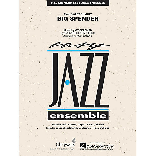 Hal Leonard Cy Coleman: Big Spender (Sweet Charity) Jazz Band Level 2 Arranged by Rick Stitzel-thumbnail