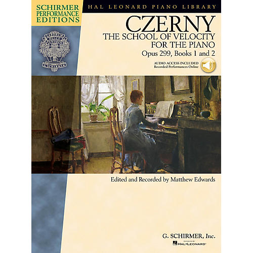 G. Schirmer Czerny - The School of Velocity for the Piano Op 299 Books 1 and 2 Schirmer Perf Ed BK/Audio Online-thumbnail