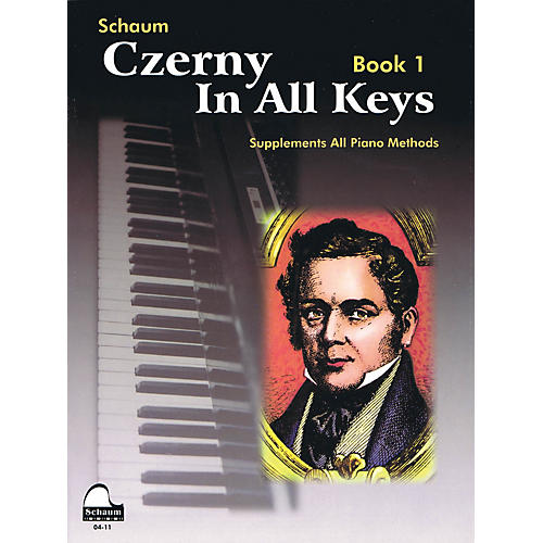 SCHAUM Czerny In All Keys, Bk 1 Educational Piano Series Softcover-thumbnail