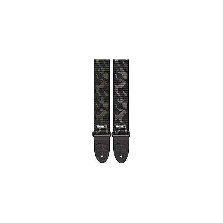 Dunlop D-38 Camo Guitar Strap Camouflage Gray