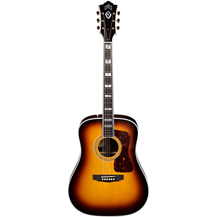 Guild D-55 Acoustic-Electric Guitar with DTAR Multi-Source Pickup System Antique Burst