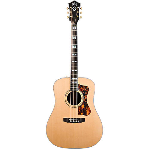 Guild D-55 Acoustic-Electric Guitar with DTAR Multi-Source Pickup System Natural
