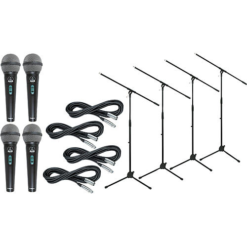 AKG D 8000 with Cable and Stand 4 Pack