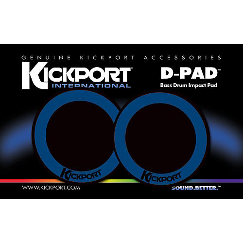 Kickport D-Pad Bass Drum Impact Pad 2-Pack