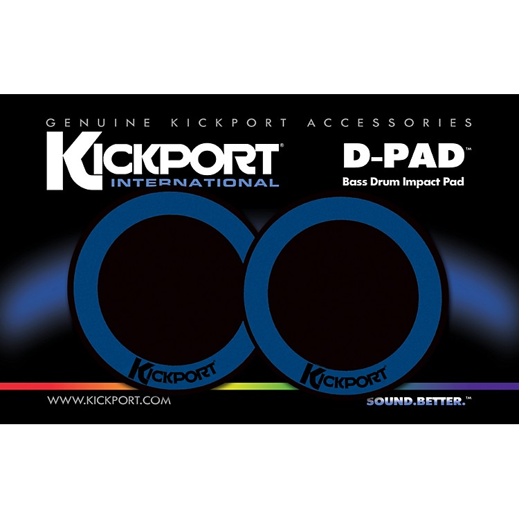 KickportD-Pad Bass Drum Impact Pad 2-PackBlack