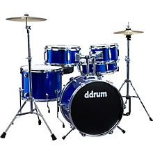 Ddrum D1 5-Piece Junior Drum Set with Cymbals Police Blue