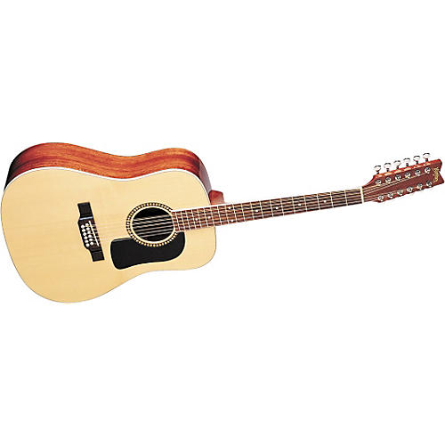 Washburn D10S12 12-String Dreadnought Acoustic Guitar w/case