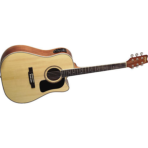 Washburn D10SCE Cutaway Dreadnought Acoustic-Electric Guitar w/case
