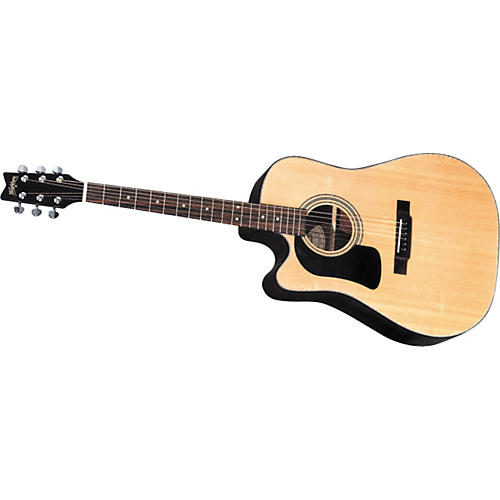 Washburn D10SCE Left Handed Acoustic Electric Guitar-thumbnail