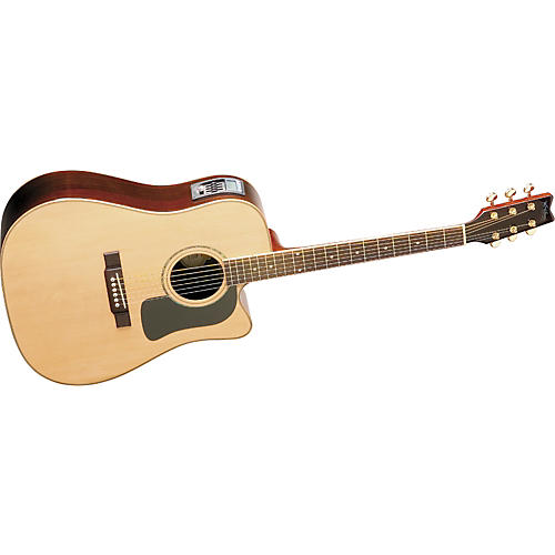 Washburn D10SCEDL Deluxe Cutaway Dreadnought Acoustic-Electric Guitar w/case