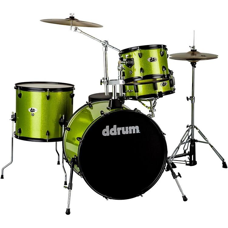 ddrumD2 4-Piece Drum SetLime SparkleBlack Hardware