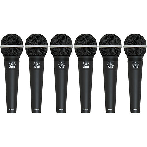 AKG D4400 Premium Vocal Mic Six Pack