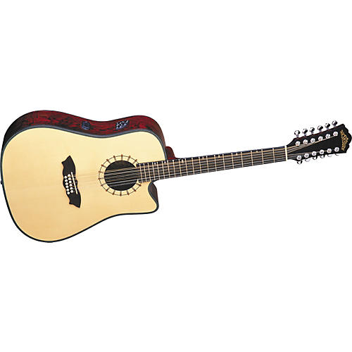 Washburn D46S12 Southwest Cutaway Dreadnought Acoustic-Electric 12-String Guitar