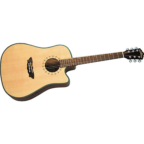 Washburn D46SCE Southwest Dreadnought Cutaway Acoustic-Electric Guitar w/case