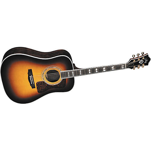 guild d55 dreadnought acoustic electric guitar with dtar lock load pickup system musician 39 s. Black Bedroom Furniture Sets. Home Design Ideas