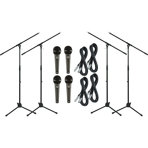 AKG D790 Dynamic Mic with Cable and Stand 4 Pack
