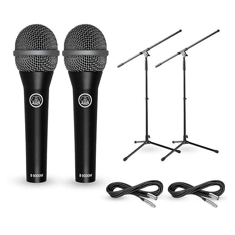AKG D8000M with Cable and Stand 2 Pack