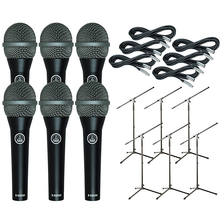 AKG D8000M with Cable and Stand 6 Pack