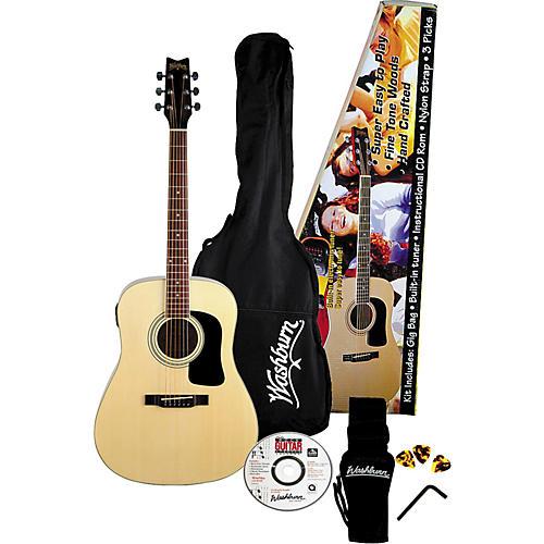 Washburn D8GAP Acoustic Guitar Pack