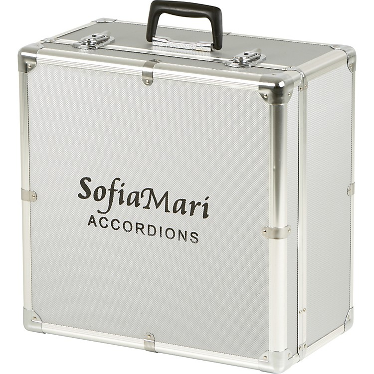 SofiaMari DAC-3412 Deluxe Metal Accordion Case