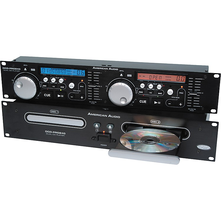 american audio dcd pro240 pro rackmount dual disc cd player musician 39 s friend. Black Bedroom Furniture Sets. Home Design Ideas