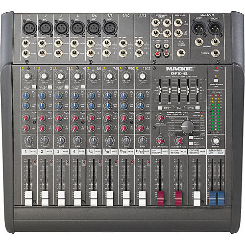 mackie dfx12 12x2 mixer with effects. Black Bedroom Furniture Sets. Home Design Ideas