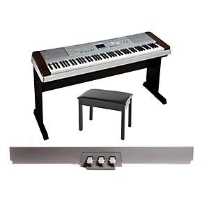 yamaha dgx 640 88 key digital piano walnut with bb1 padded. Black Bedroom Furniture Sets. Home Design Ideas