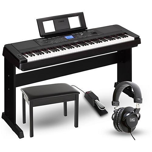 Yamaha dgx 660 88 key portable grand piano package for Yamaha 660 keyboard