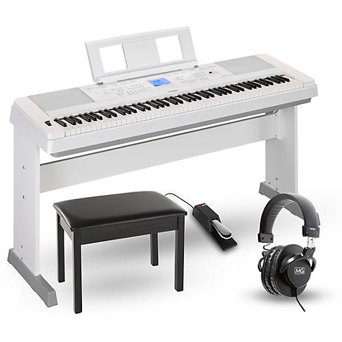 yamaha dgx 660 88 key portable grand piano package white. Black Bedroom Furniture Sets. Home Design Ideas