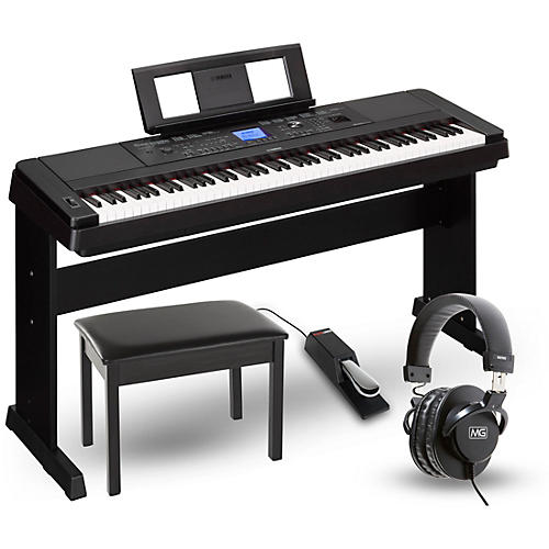 Yamaha dgx660 88 key portable grand piano packages black for Yamaha dgx 660 review